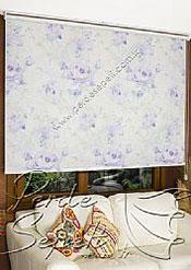 Lila Isabella Baskılı Klasik Stor Perde - 3