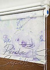 Lila Isabella Baskılı Klasik Stor Perde - 4