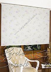 Lila Ross Baskılı Klasik Stor Perde - 3