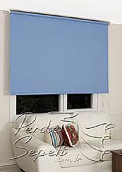 Mavi Linen Stor Perde - 3