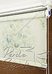 Mavi Rose Posy Baskılı Klasik Stor Perde - 4