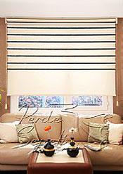 İkili Perde (Ön Ekru-Siyah Bamboo Star Zebra Perde-Arka Ekru Stor) - 3