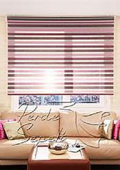 İkili Perde (Ön Renkli Zebra-Arka Gri Stor) - 2