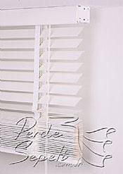 Parlak Beyaz Ahşap Jaluzi Lake 50mm Perde - 6