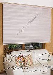 Pembe Beyaz Çizgili Dar Pileli VIP Ekonomik Zebra Perde - 5