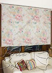 Pembe Isabella Baskılı Klasik Stor Perde - 3