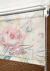 Pembe Isabella Baskılı Klasik Stor Perde - 4