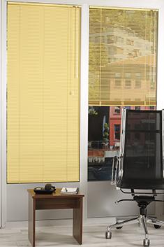 Promosyonel - 100x137 Sarı Alüminyum Jaluzi 16mm Perde KOD:1701