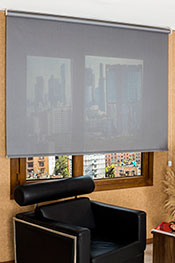 Promosyonel - 185 x 200  Koyu Gri Satine Serisi Screen Stor Perde KOD:1641