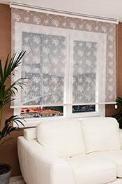 Promosyonel - 230 x 200 Beyaz Çiçek Desenli Dantella Stor Perde KOD:470