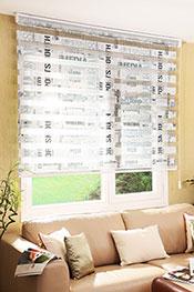Promosyonel - 60 x 200  Gazete Baskılı Zebra Perde KOD:1287