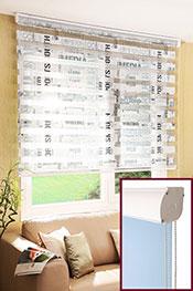Promosyonel - 60 x 200 Taçlı Gazete Baskılı Zebra Perde KOD:1296