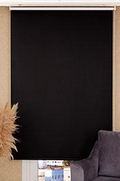 Promosyonel - 60x200 - Siyah Blackout Stor Perde