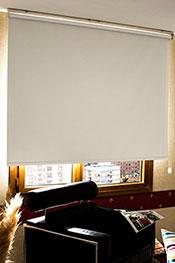 Promosyonel - 70 x 200 Kirli Beyaz Neo Classic Blackout Stor Perde KOD:399