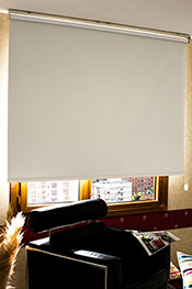 Promosyonel - 70 x 200 Kirli Beyaz Neo Classic Blackout Stor Perde KOD:435