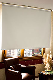 Promosyonel - 100 x 200 Kırık Beyaz Düz Shiny Blackout Stor Perde (DALGA OYMALI) KOD:1025