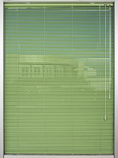Promosyonel - 100x137 Açık Yeşil Alüminyum Jaluzi 16mm Perde KOD:1702