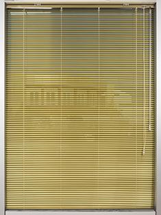 Promosyonel - 100x137 Altın Sarısı Alüminyum Jaluzi 16mm Perde KOD:1708