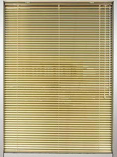 Promosyonel - 100x137 Altın Sarısı Alüminyum Jaluzi 25mm Perde KOD:1709 -