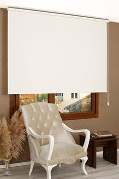 Promosyonel - 120x260 Beyaz Linen Stor Perde KOD:770