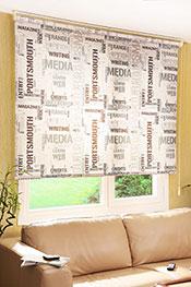 Promosyonel - 180x200 Gazete Baskılı Klasik Stor Perde -