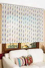 Promosyonel - 185 x 200 Mavi Dalgalar Design Tül Stor Perde