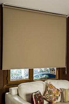 Promosyonel - 185x200 Açık Kahverengi Neo Classic Stor Perde KOD:205
