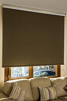 Promosyonel - 185x200 Kahverengi Linen Blackout Stor Perde KOD:194