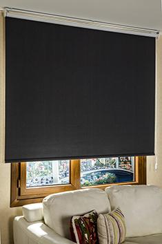 Promosyonel - 185x200 Koyu Gri Linen Blackout Stor Perde KOD:191