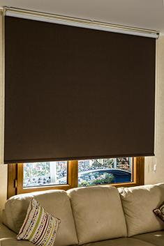 Promosyonel - 185x200 Koyu Kahverengi Linen Blackout Stor Perde KOD:193