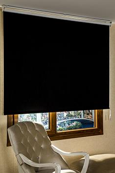 Promosyonel - 185x200 Siyah Şantuk Blackout Stor Perde KOD:186
