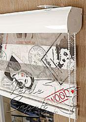 Promosyonel - 80x200 Hollywood Baskılı Taçlı Zebra Perde - 2