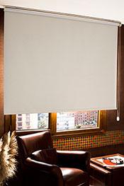 Promosyonel - 90 x 200 Kırık Beyaz Linen Blackout Stor Perde KOD:1059