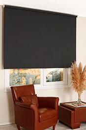 Promosyonel 185-200 Siyah Linen Stor Perde