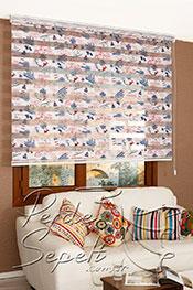 Promosyonel -185x200 Gemici Bask�l� Zebra Perde