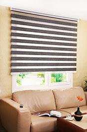 Promosyonel 60x200 Füme Taçlı Bamboo Zebra Perde kod:059