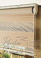 Pudra Kahve Geniş Pileli Zebra Perde - 6