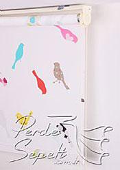Renkli Kuşlar Baskılı Klasik Stor Perde - 5