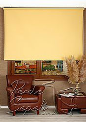 Sarı  Linen Stor Perde - 2