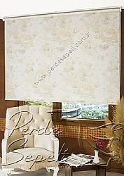 Sarı Isabella Baskılı Klasik Stor Perde - 1
