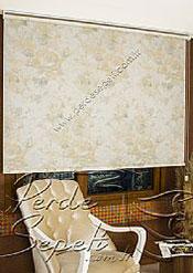 Sarı Isabella Baskılı Klasik Stor Perde - 3