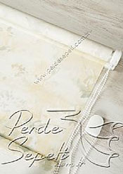 Sarı Isabella Baskılı Klasik Stor Perde - 5