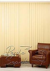 Sarı Klasik Seri Dikey Pvc Perde - 3