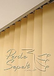 Sarı Klasik Seri Dikey Pvc Perde - 6