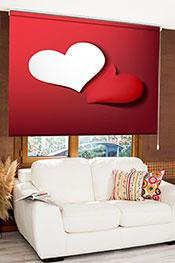 Sevgililer Günü Özel Dijital Baskılı Stor Perde 04