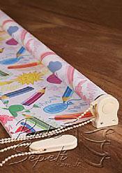 Renkli Kalemler Baskılı Klasik Stor Perde - 4