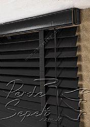 Siyah Ahşap Jaluzi 50mm Perde - 6