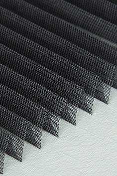 Siyah Kırçıllı Seri Tül 14mm Cam Balkon Plise Perde -