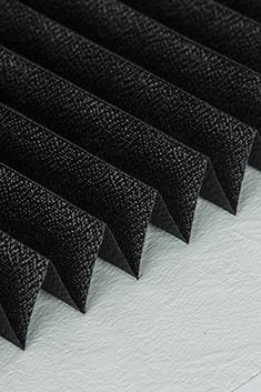 Siyah Klasik Seri 14mm Cam Balkon Plise Perde