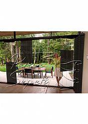 Siyah Klasik Seri 14mm Cam Balkon Plise Perde - 2